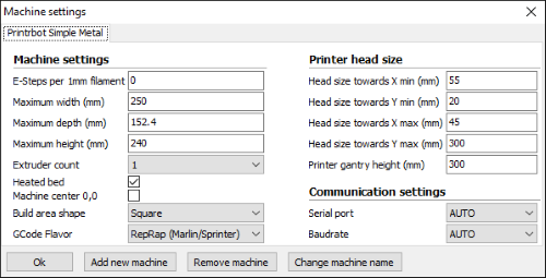 Print one at a time settings